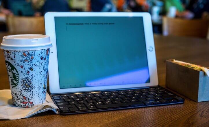 カフェとiPad
