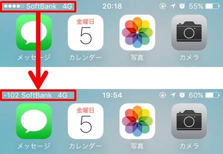 iPhone-電波強度を数値化