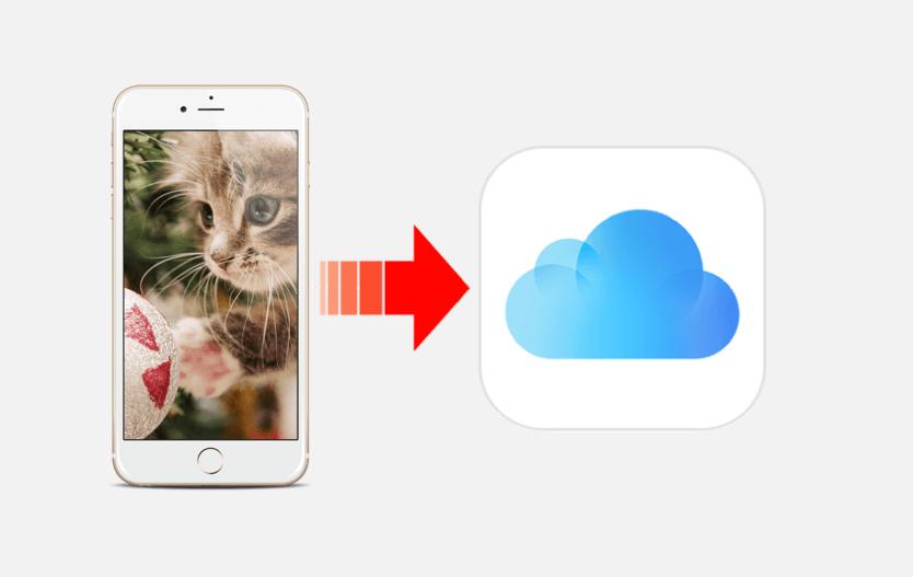 iphoneからicloudに写真をバックアップする