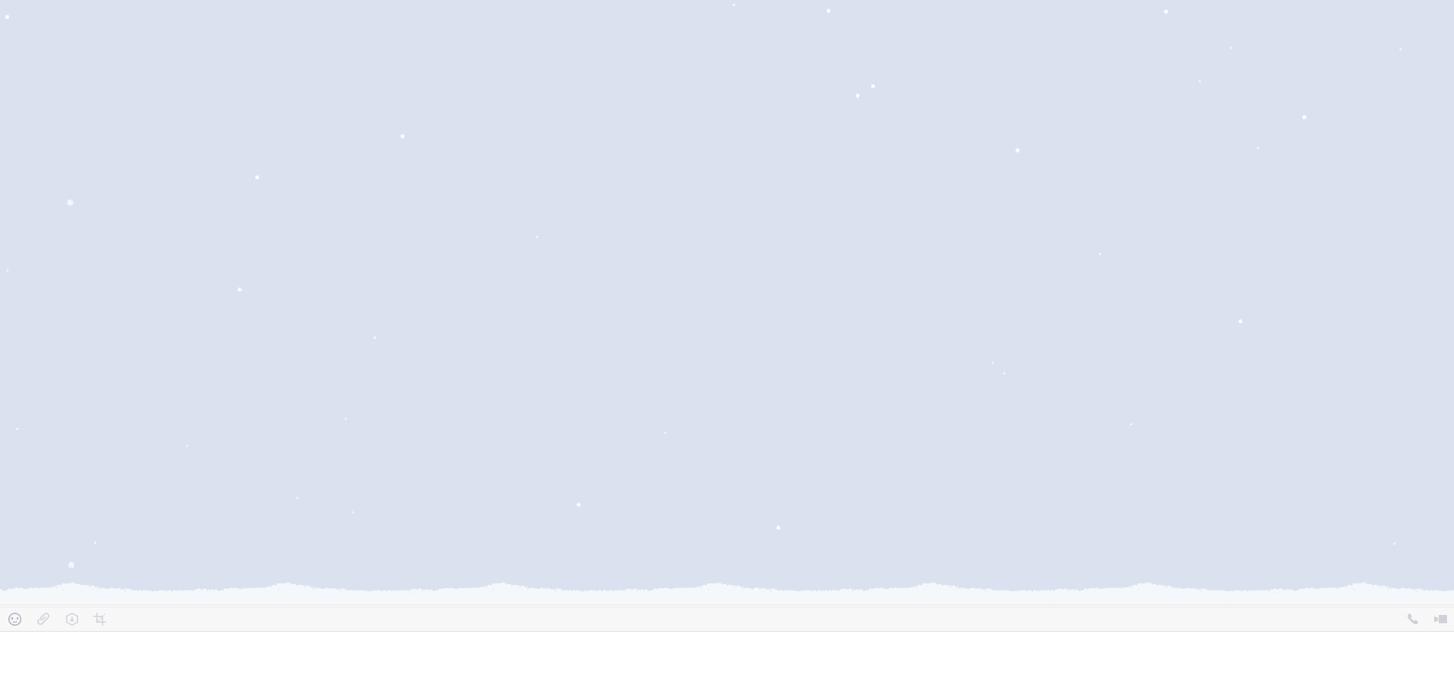 LINE-PC版ー雪