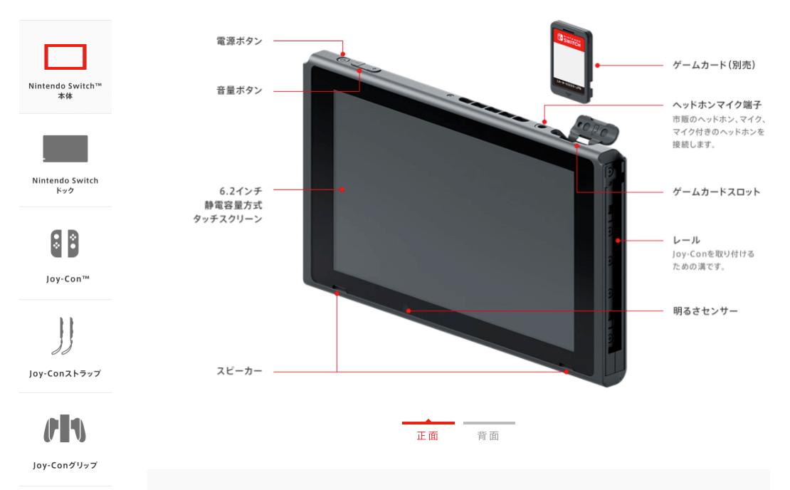 機能・仕様-Nintendo Switch