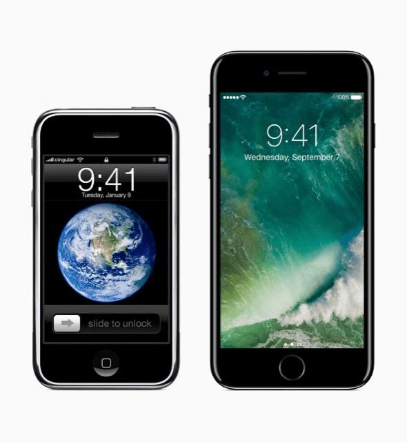 初代iPhone-iPhone7比較